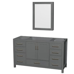 Sheffield 60 Single Bathroom Vanity Base with Medicine Cabinet by Wyndham Collection