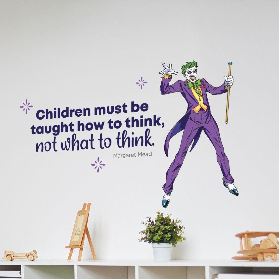 Design With Vinyl Joker Batman How To Think Vinyl Wall Decal Wayfair