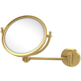Allied Brass Wall Mounted Make-Up 2X Magnification Mirror with Dotted Detail