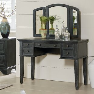 August Grove Hayter Vanity with Mirror