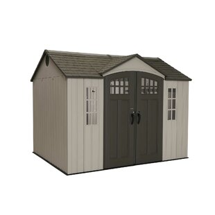 Lifetime 9 ft. 8 in. W x 7 ft. 8 in. D Plastic Vertical Storage Shed