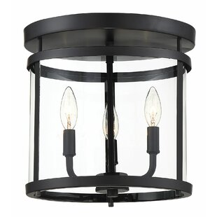 Gracie Oaks Spurgeon 3-Light Flush Mount