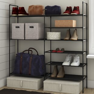 Rebrilliant Multi-Purpose 27 Pair Stackable Shoe Rack