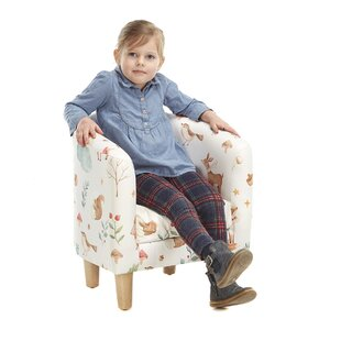 Fellers Animal Camp Autumn Children's Club Chair By Zoomie Kids