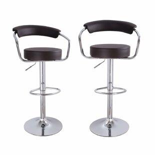 Best Price Konivetska Adjustable Height Swivel Bar Stool (Set of 2) By Ebern Designs