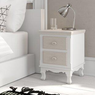Erwan 2 Drawer Bedside Table By Fleur De Lis Living