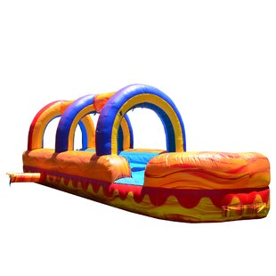 JumpOrange Turbo Blaze Inflatable Slip N Slide Bounce House