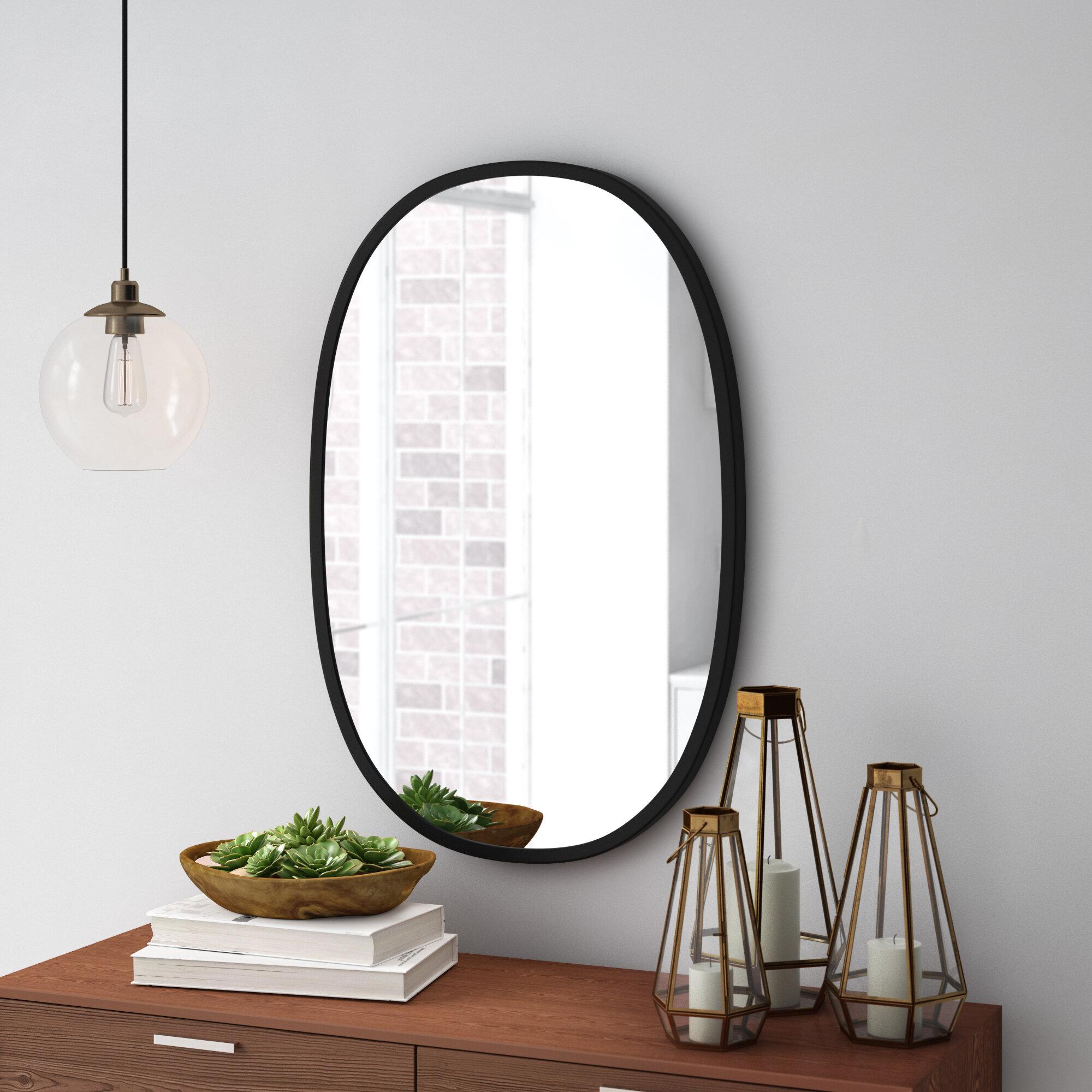 Umbra Hub Oval Modern Contemporary Accent Mirror Reviews Wayfair Ca