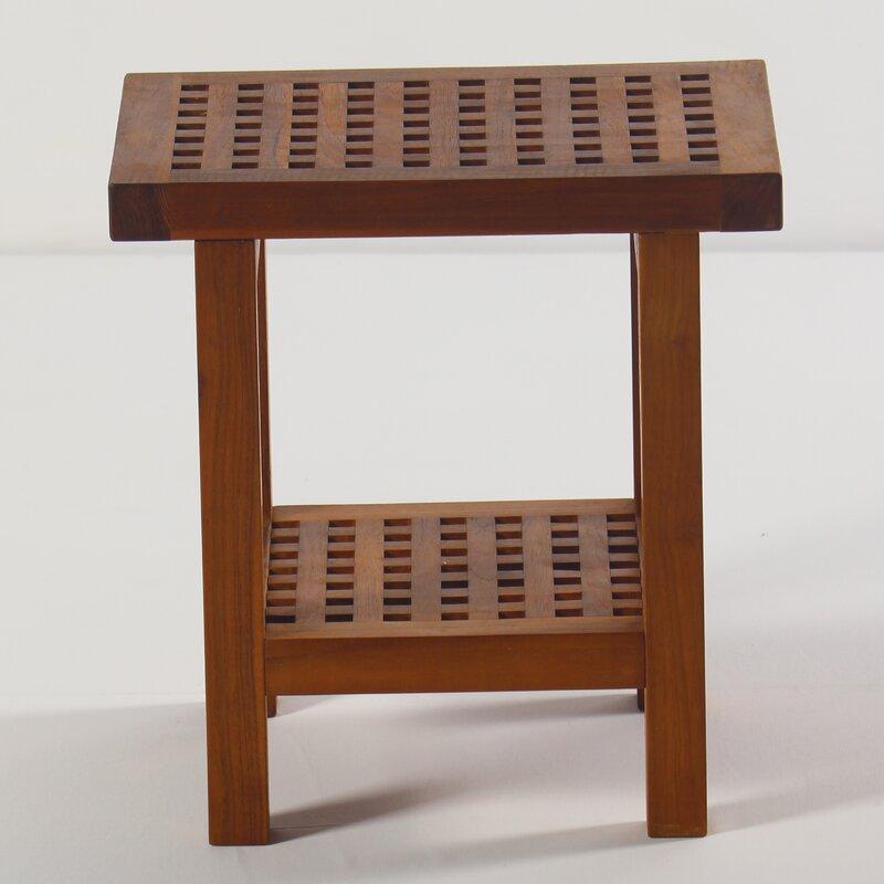 Symple Stuff Solid Teak Wood Shower Seat & Reviews   Wayfair