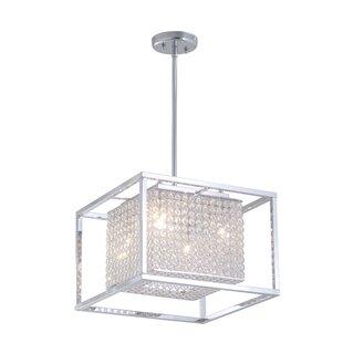 DVI Shadow Box 4-Light Square/Rectangle Chandelier