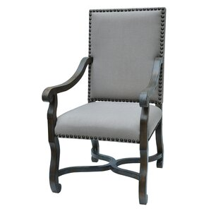 St. James Nailhead and Linen Armchair by Crestview Collection