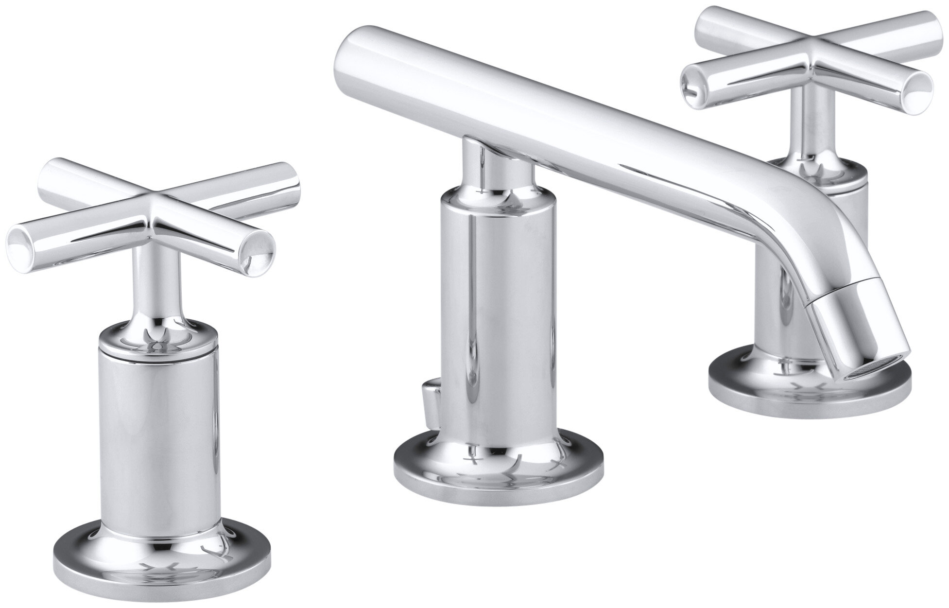 K 14410 3 Cp Bgd Kohler Purist Widespread Bathroom Sink Faucet With Low Cross Handles And Low Spout Reviews Wayfair