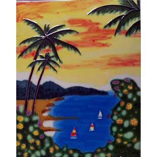 Sunset Beach View Tile Wall Decor