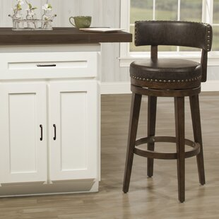 Compare prices Malachy Swivel Bar Stool by Millwood Pines Reviews (2019) & Buyer's Guide