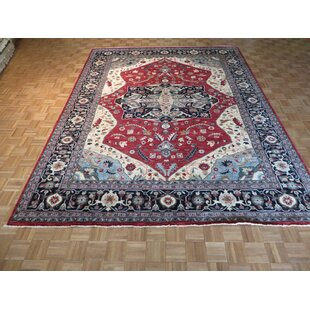 Best Choices One-of-a-Kind Beaumont Hand-Knotted Red Area Rug By Isabelline