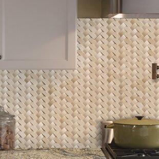 Crema Herringbone Arched 1 X 3 Marble Mosaic Tile