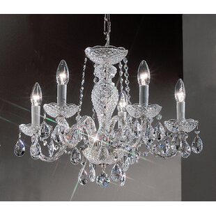 Classic Lighting Monticello 5-Light Candle Style Chandelier