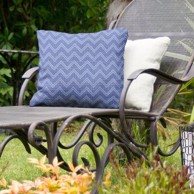 Stephenie Reverse Hand Drawn Chevrons Indoor/Outdoor Throw Pillow by Brayden Studio Spacial Price