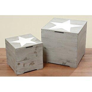 Star Wood 2 Piece Cubes & Bins Set ByAugust Grove