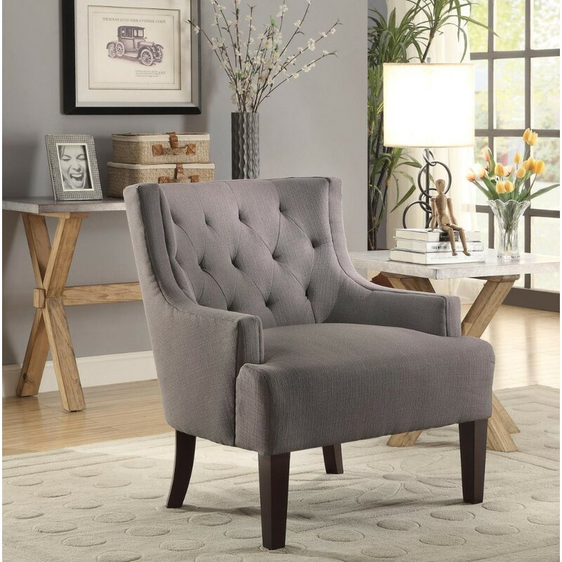 Leeman Fabric Upholstered Wingback Chair