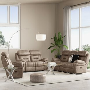 Israel Reclining 3 Piece Living Room Set by Wrought Studio