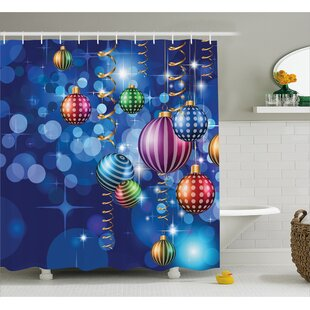 Christmas Happy New Year Party Single Shower Curtain