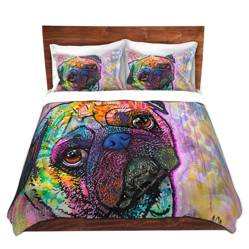 Dianochedesigns Pug Love Dog Duvet Cover Set Wayfair