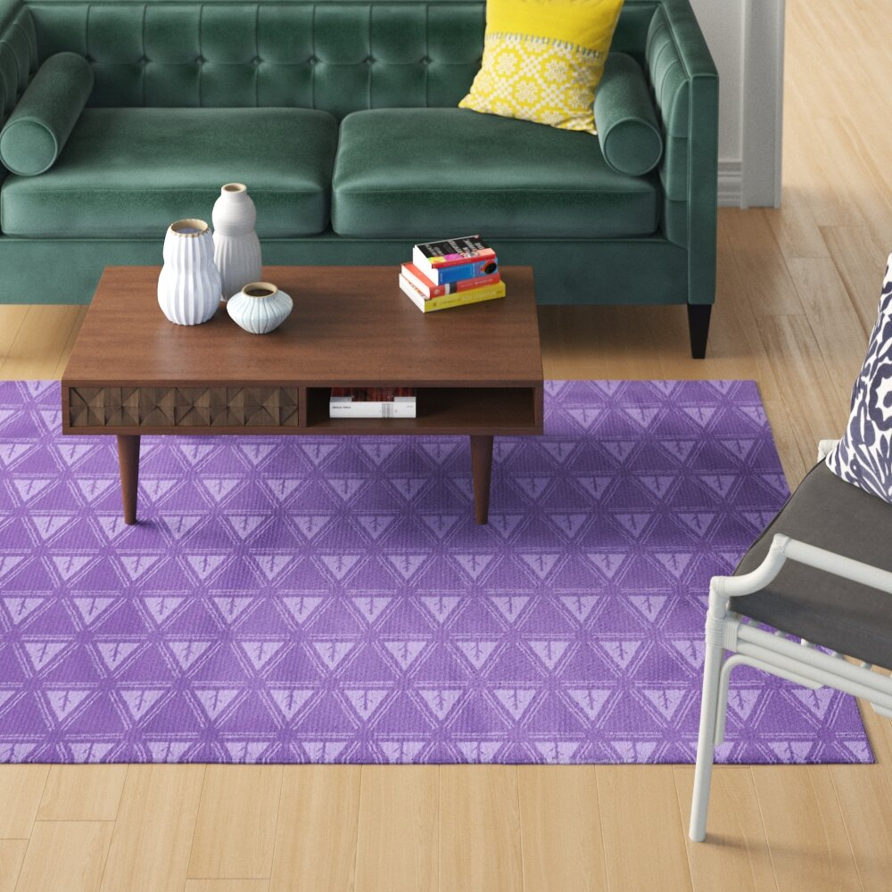 Brayden Studio Barbra Minimalist Tree Purple Area Rug Wayfair