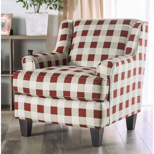 Wolters Sloped Checkered Armchair by Red Barrel Studio