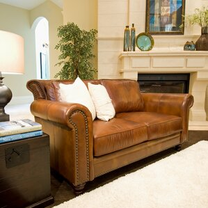 Elements Fine Home Furnishings Paladia Leather Loveseat Image