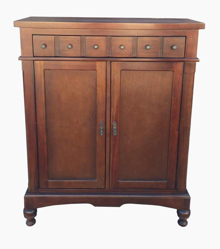 D-Art Collection Colonial Apothecary Storage Accent Cabinet ...