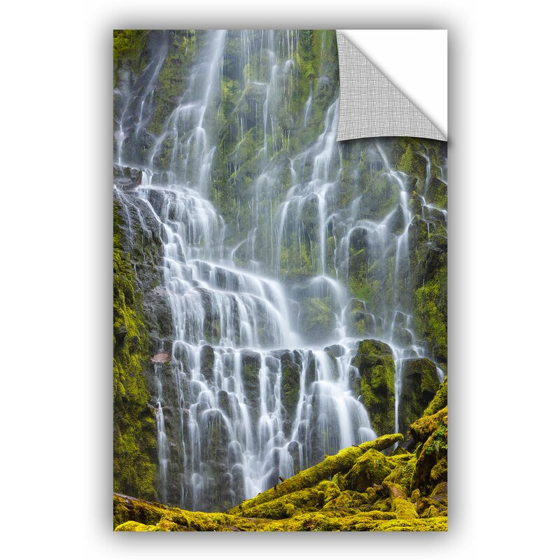East Urban Home Proxy Falls Oregon 9 Removable Wall Decal Wayfair