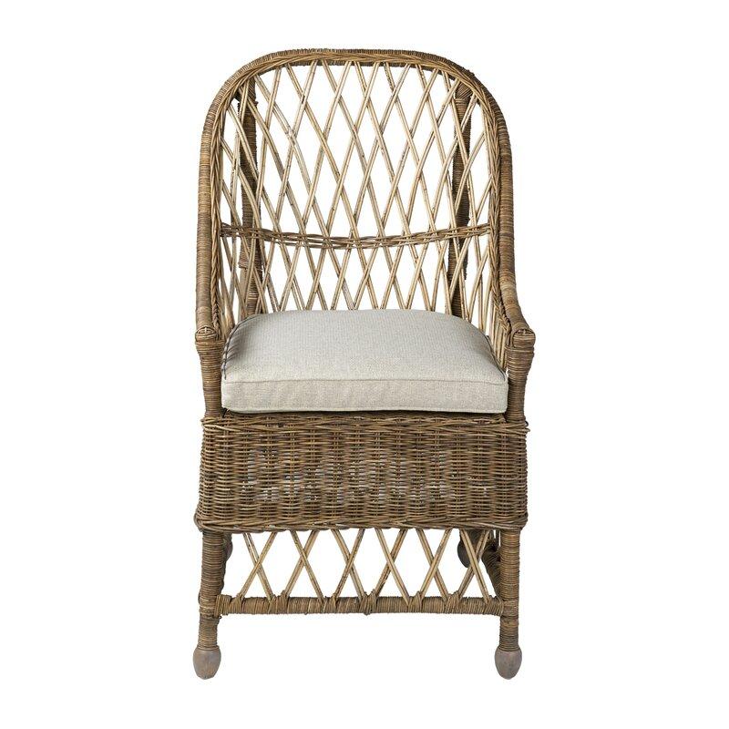 Cordele Rattan Arm Chair in Gray