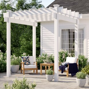 Davao 9 Ft. W x 9 Ft. D Vinyl Pergola by Sol 72 Outdoor