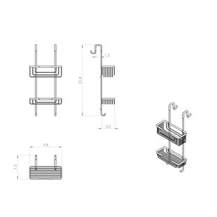 Gedy by Nameeks Wire Shower Caddy
