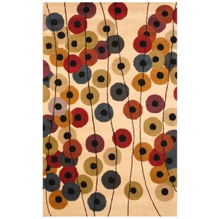 Great choice Hand-Tufted Beige/Black Area Rug By Herat Oriental