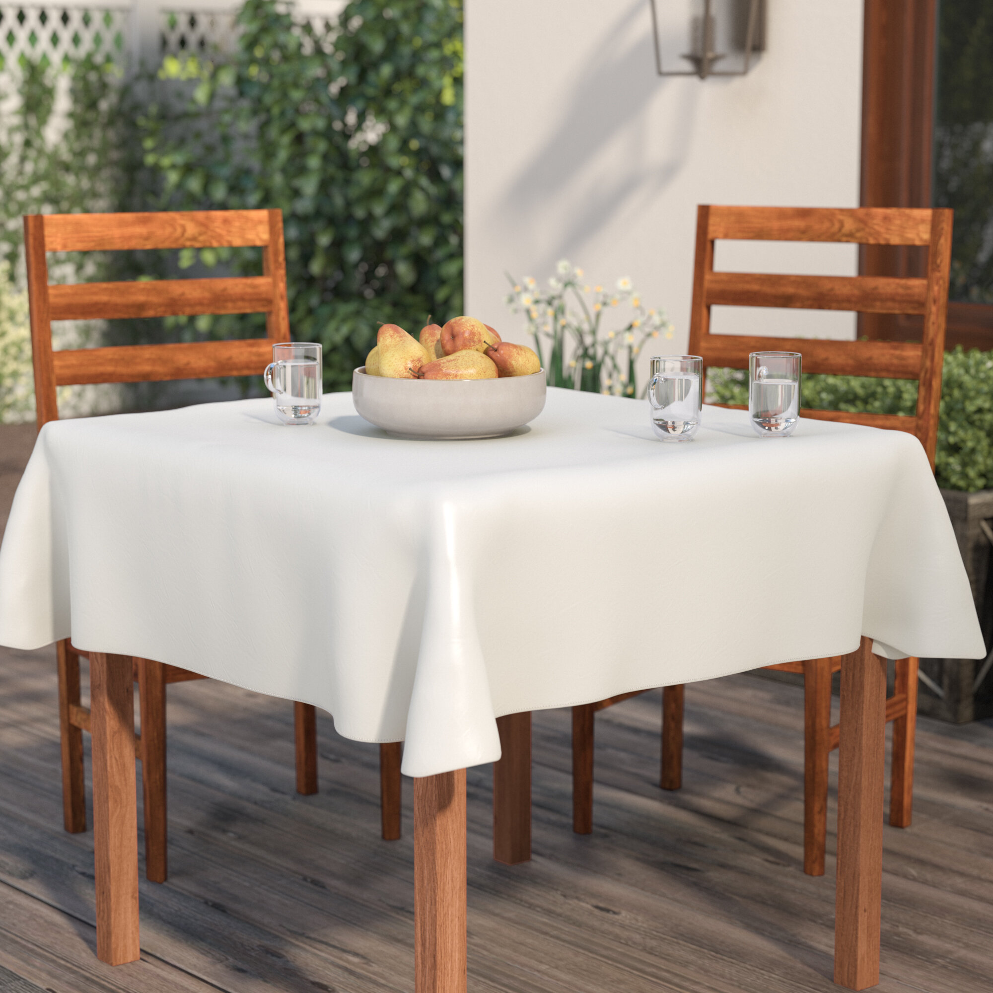 Charmant Vinyl Flannel Backed Tablecloth