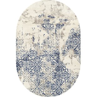 Blue and White Area Rug by Pandora Trade