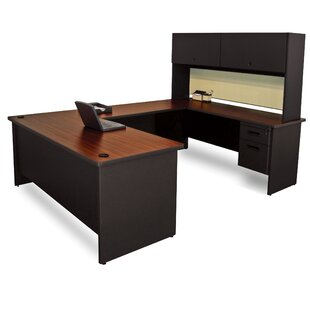 Crivello Flipper Door Unit U-Shape Executive Desk With Hutch by Red Barrel Studio Modern