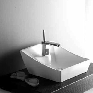 Best Review Soria Ceramic Specialty Vessel Bathroom Sink By Hispania Home