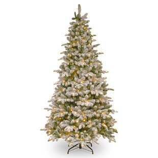 Flocked Christmas Trees You\'ll Love | Wayfair