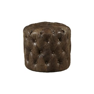 Kendra Leather Cocktail Ottoman