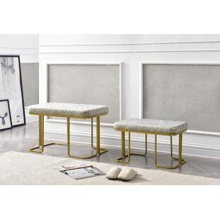 Cavin 2 Piece Upholstered Ottoman Set