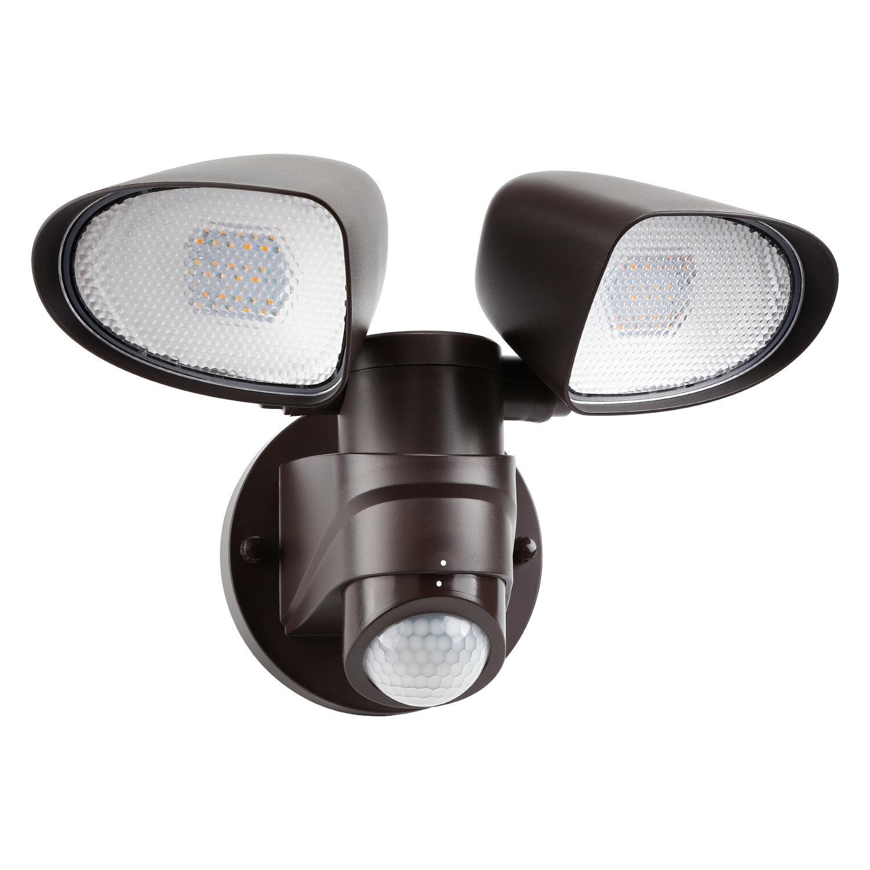 Leonlite Dual Head 16 Watt Led Flood Light With Motion Sensor Pack Of 1 Reviews Wayfair