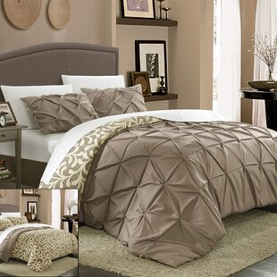 Talia Pleated Pintuck 7 Piece Reversible Duvet Cover Set