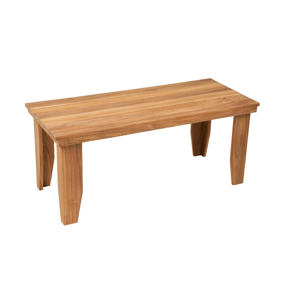 Rebrilliant Teak Natural Wood Shower Seat | Wayfair