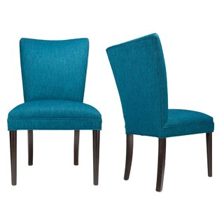 Sole Designs Alex Lucky Spring Seating Double Dow Roll-Back Upholstered Parsons Chair (Set of 2)