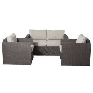 Maura 3 Piece Lounge Sofa Set With Cushions by Brayden Studio Cool