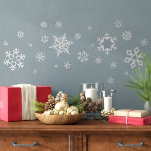 Glitter Snowflakes Wall Decal