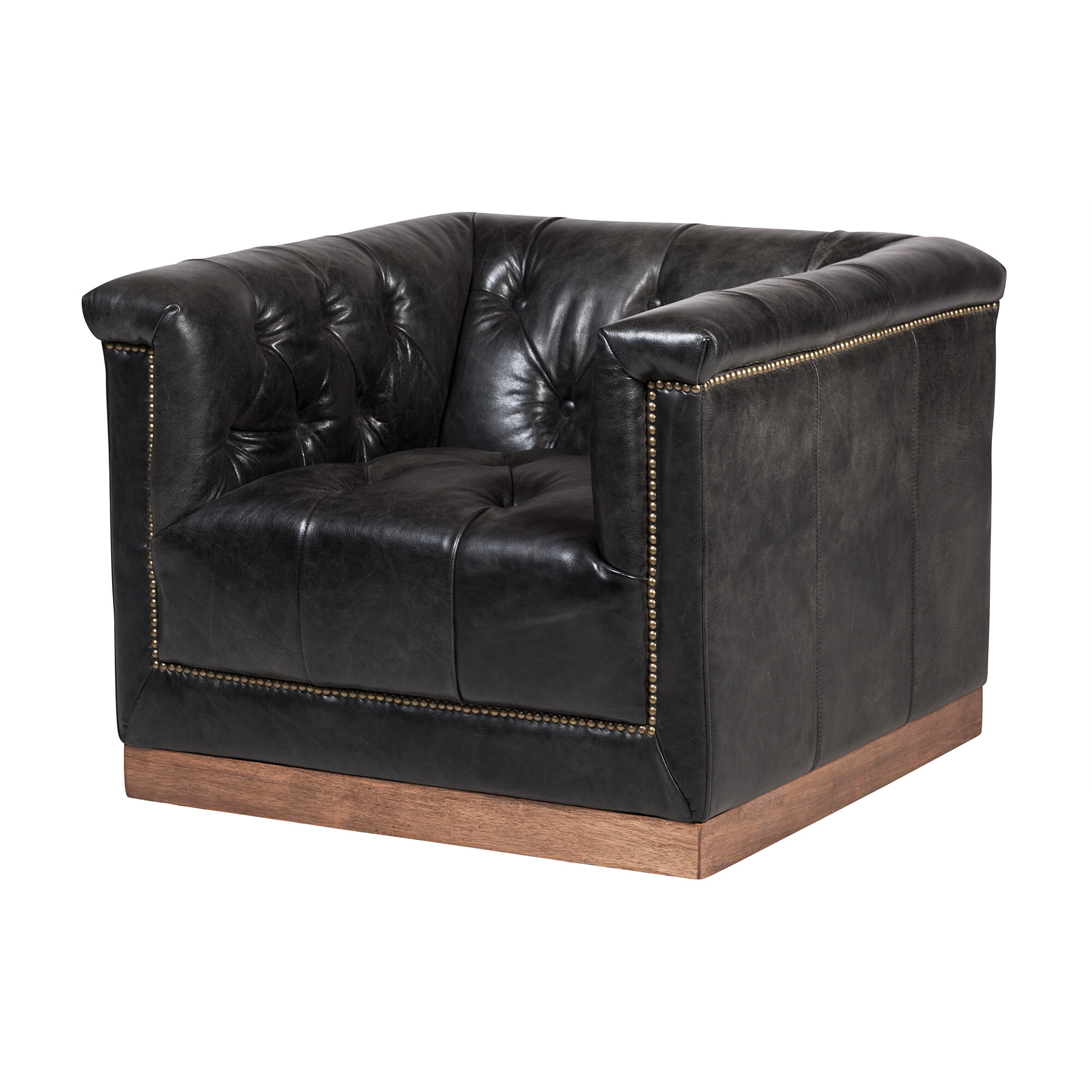 Leather Swivel Accent Chairs You Ll Love Wayfair